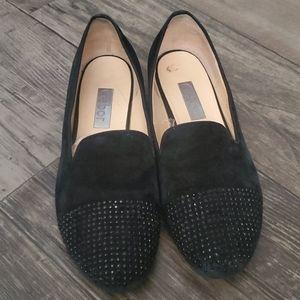 Gabor Embellished Toe Cap Suede Loafers